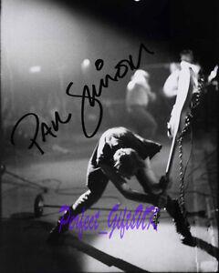 PAUL SIMONON THE CLASH SIGNED AUTOGRAPHED 10X8 REPRO PHOTO PRINT