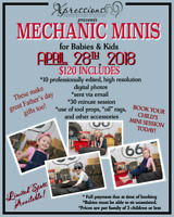 MECHANIC MINI SESSIONS for toddlers and kids