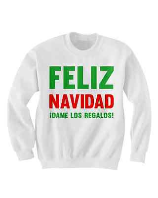 FELIZ NAVIDAD SWEATER CHRISTMAS SWEATER CHEAP GIFTS CUTE HOLIDAY CLOTHES MERRY