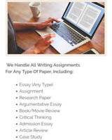 Writing Essays, Editing Assignments, Online Courses and Tutoring