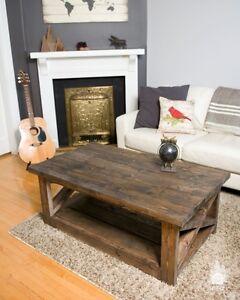 Rustic X coffee tables - Custom size & colors Edmonton Edmonton Area image 2