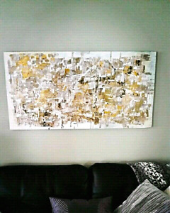 Unique original abstract art! Large size for over couch