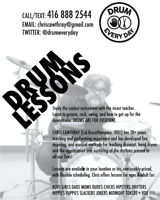 DRUMEVERYDAY - private music lessons in Toronto's west end