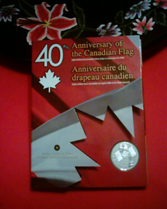 40TH ANNIVERSARY OF THE CANADIAN FLAG COIN SET