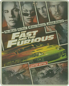 The Fast and the Furious: STEELBOOK (Blu-ray/DVD, 2014, Digital