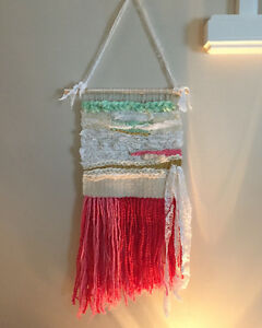 Hand woven wall hanging perfect for nursery