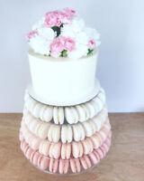 MACARONS + CAKE TOWER