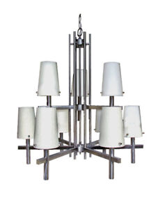 Contemporary styled 9 light Chandeliers