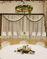 Tablecloths for rent--$6.00 each--Chair covers