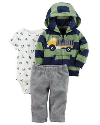 Carter's Dump Truck Construction 3-Piece Pants Outfit Set Baby Boy 9 Months NEW