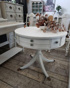 Round Gaming or Snack Table with Drawer