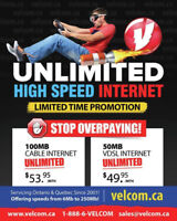 Unlimited High Speed Internet As low as $25.95/mo