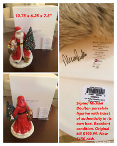 Keep or Give! Christmas ROYAL  DOULTON signed Father Christmas