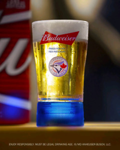 FATHER'S DAY GIFT TORONTO BLUE JAYS HOMERUN LIGHT BEER GLASS