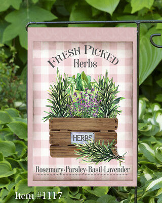 Fresh Herbs   Double Sided Soft Flag   **GARDEN SIZE**   (Garden Fresh Herbs)