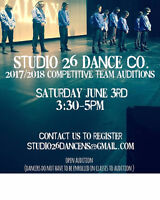 Studio 26 Dance Competitive team auditions