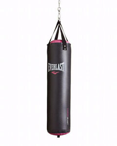 Everlast 40 lb heavy bag, gloves, and ceiling mount - BRAND NEW
