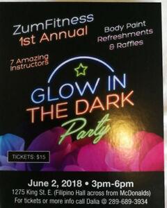 ZumFitness 1st Annual Glow in the dark Party