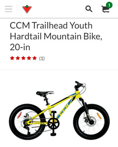 Brand new 7 speed youth mountain bike ccm trailhead