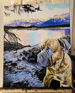 Custom paintings for as little as $60-can be ready for christmas