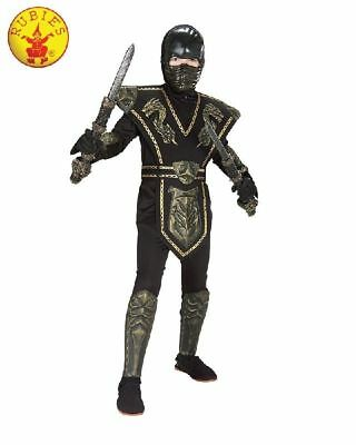 BRAND NEW Gold Dragon Warrior Ninja Costume Child Medium 5-7 yrs Cosplay - Gold Dragon Ninja Kostüm