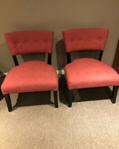 Beautiful pair of chairs in brand new condition