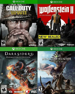 Selling/Trading Xbox One Monster Hunter, WW2, Wolfenstein2, more