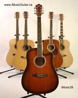 Burgundy acoustic guitar brand new for beginner iMusic39