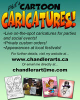 Cartoon Caricatures for your Parties and Events!