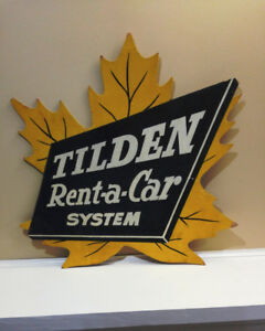 Signage  TILDEN  RENT  A  CAR
