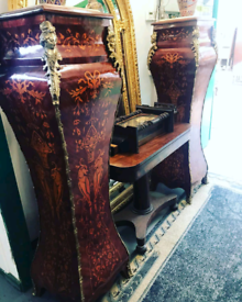French Marble Top Plantar Stands