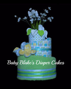 Custom made premium baby gifts - diaper cakes, baskets, and more