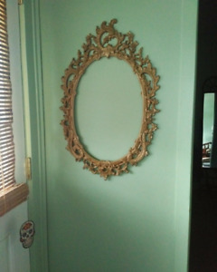 Antique Oval Frame (with mirror)