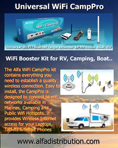 WiFi Booster Kit for RV, Easy Connect to Public,Camping Hotspots