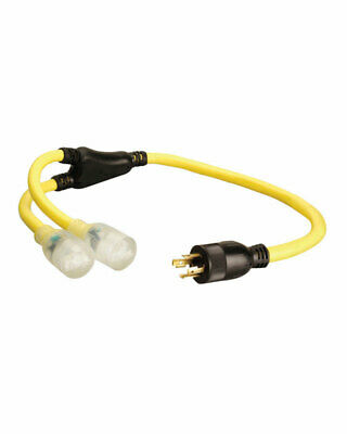 Coleman Cable 124 Stow 250 Volt 3 Ft. L Generator Cord