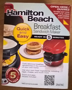 Hamilton Beach Breakfast Sandwich Maker - Red