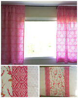 Crib/Toddler bed duvet cover and matching curtains