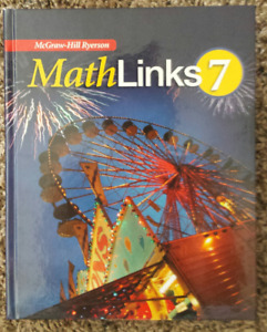 Brand new! Never used! Math Links 7 Textbook