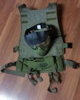 Paintball Equipment / Vest + Mask + Neck protector