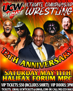 UCW 12TH ANNIVERSARY FEATURING BOOKER T MAY 11TH HFX FORUM MPC