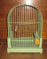 Three Vintage Metal Wire Bird Cages for Sale