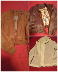 IT'S COLD OUTSIDE!!  Leather, Suede and Fur Jackets for sale...