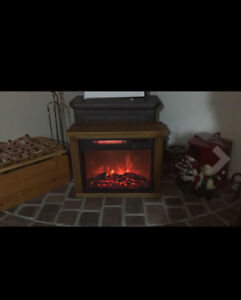 Electric fireplace tv stand table