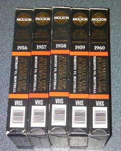 Complete 1956-1960 Stanley cup playoff VHS Montreal Canadien