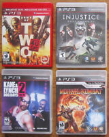 PS3 PLAYSTATION 3 GAMES / JEUX (GOOD TITLES / BONS TITRES).