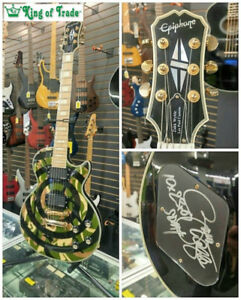 Zakk Wylde Camo Bullseye Custom Electric Guitar - King of Trade