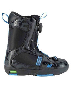 2019 K2 MINI TURBO JUNIOR BOTTES DE SNOWBOARD BOOTS K9 till 1 US