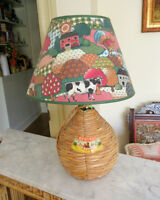 Wine Jug TABLE LAMP - Country Animals (Cow Rooster...)