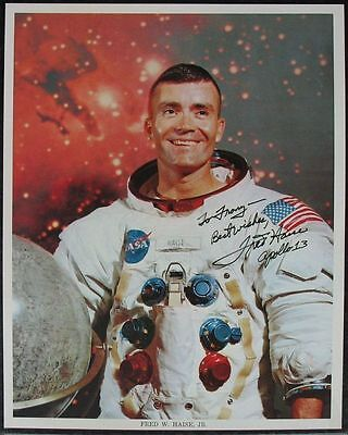 s1290) Raumfahrt Fred Haise Apollo 13 Astronaut  NASA Photo MSCL-44 Autograph OU