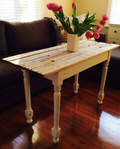 French country style console table